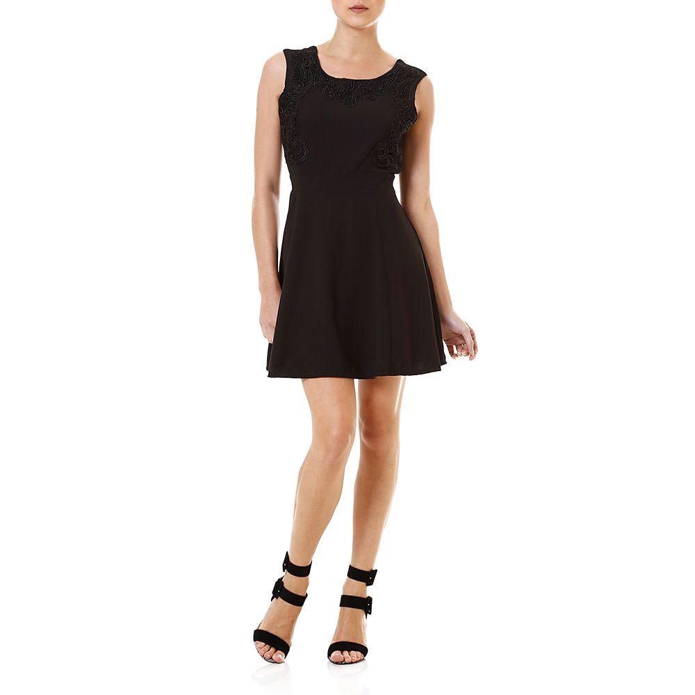 Vestido preto básico curto de Claudia Abreu