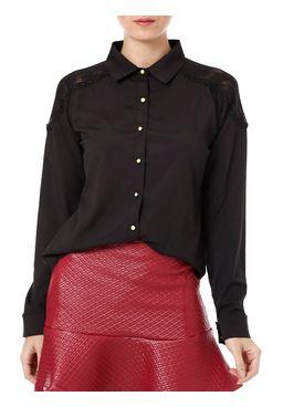 Camisa-Manga-Longa-Feminina-Autentique-Com-Renda-Preta