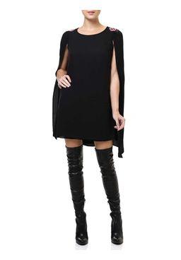 Vestido-Curto-Feminino-Autentique-com-Capa-Preto