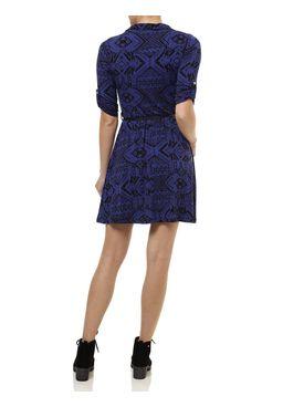 Vestido-Curto-Feminino-com-Cinto-Azul
