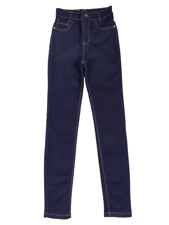 Calça Jeans Moletom Juvenil para Menina Azul 14