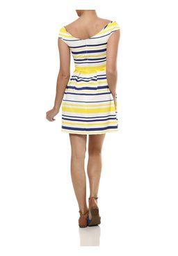 Vestido-Curto-Feminino-Autentique-Branco-Amarelo