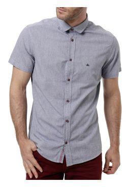 Camisa-Manga-Curta-Masculina-Azul-Escuro