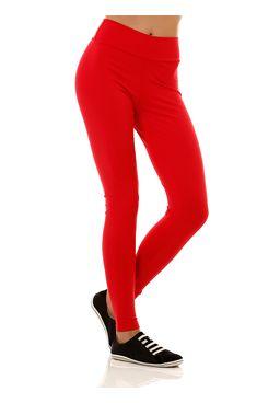Calca-Tecido-Feminina-Legging-Vermelho