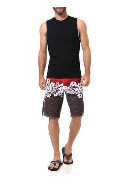 Bermuda-de-Praia-Masculina-Gangster-Vermelha