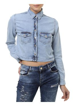 Camisa-Jeans-Manga-Longa-Feminina-Azul-