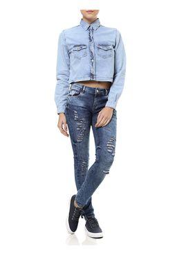 Camisa-Jeans-Manga-Longa-Feminina-Azul