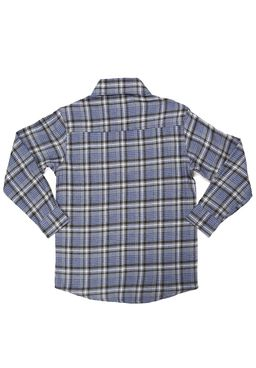 Camisa-Manga-Longa-Juvenil-para-Menino---Xadrez-Cinza-Azul