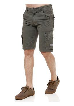 Bermuda-Jeans-Masculina-Gangster-Verde-Escuro