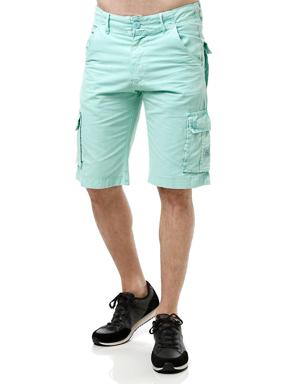 Bermuda Jeans Masculina Gangster Verde claro 48