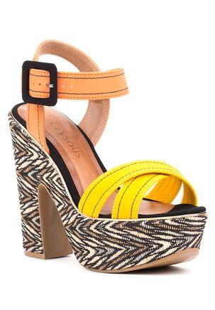 Sandalia-de-Salto-Feminina-Amarela-Laranja