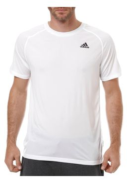 Camiseta-Manga-Curta-Masculina-Adidas-Base-Plain-Branca