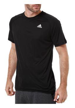 Camiseta-Manga-Curta-Masculina-Adidas-Base-Plain-Preta