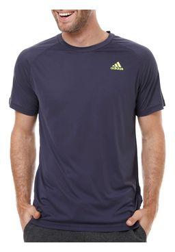 Camiseta-Manga-Curta-Masculina-Adidas-Base-Plain-Azul
