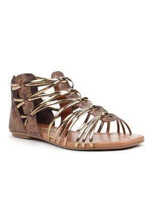 Sandalia-Rasteira-Feminina-Dakota-Gladiadora-Marrom-Dourada