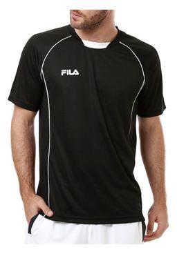 Camiseta-Manga-Curta-Masculina-Fila-Piane-Preta