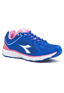 Tenis-Esporte-Feminino-Diadora-Strike-II-Azul-Rosa