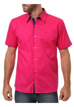 Camisa-Manga-Curta-Masculina-Eletron-Rosa