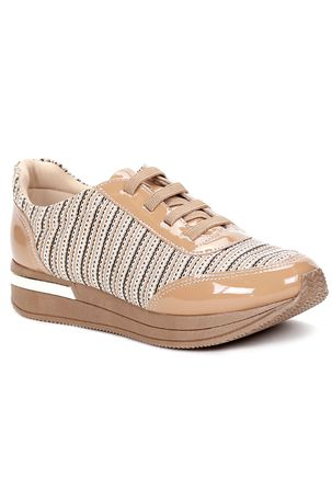 Tenis-Casual-Feminino-Piccadilly-Bege