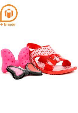 Sandalia-Infantil-para-Menina---Disney---Brinde-Vermelho-Rosa