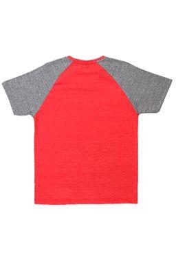 Camiseta-Manga-Curta-Juvenil-para-Menino---Vermelho
