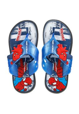 -Chinelo-Infantil-para-Menino-Homem-Aranha-Super-Flop-Preto-Azul