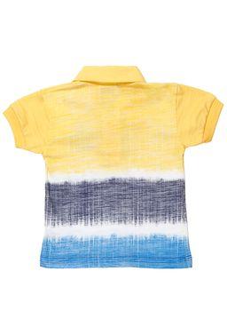Polo-Manga-Curta-Infantil-para-Bebe-Menino---Amarelo