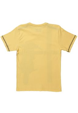 Camiseta-Manga-Curta-Juvenil-para-Menino---Amarelo