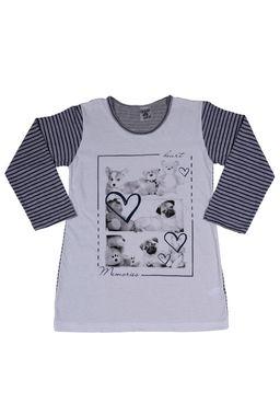 Camisola-Infantil-para-Menina---Azul-Marinho