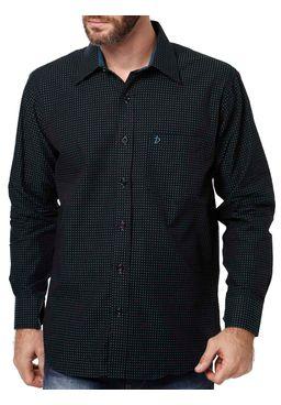 Camisa-Manga-Longa-Masculina-Di-Marcus-Preta-Verde