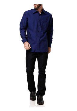 Camisa-Manga-Longa-Masculina-Di-Marcus-Azul-Preta