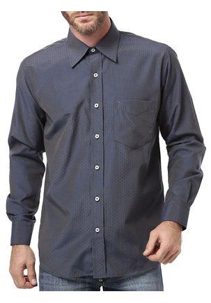 Camisa-Manga-Longa-Masculina-Di-Marcus-Azul-Marinho
