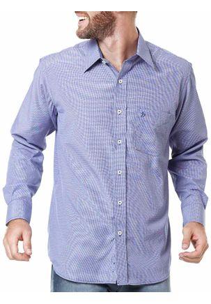 Camisa-Manga-Longa-Masculina-Xadrez-Lilas-Azul-Marinho