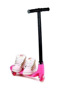 Tenis-Infantil-para-Menina-Barbie-Patinete-Fever-Rosa-Dourado