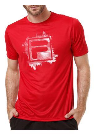 Camiseta-Manga-Curta-Masculina-Fila-Mist-Box-Vermelha