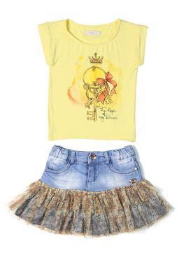 Conjunto-Infantil-para-Menina-Amarelo