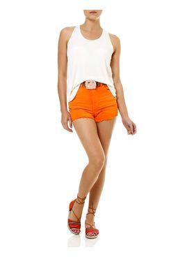 Short-Jeans-Feminino-Hot-Pants-com-Cinto-Laranja