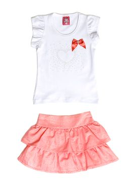 Conjunto-Infantil-para-Menina-Branco-Coral