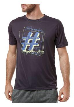 Camiseta-Manga-Curta-Masculina-Fila-Hashtag-Chumbo