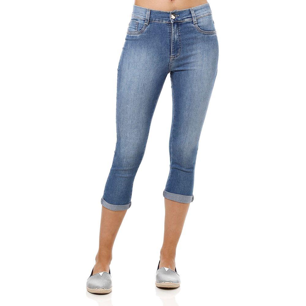 Calu00e7a Jeans Feminina Sawary Capri Cropped - Lojas Pompeia