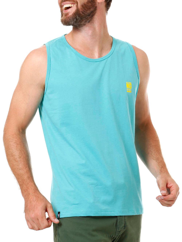 Camiseta Regata Masculina No Stress Azul G