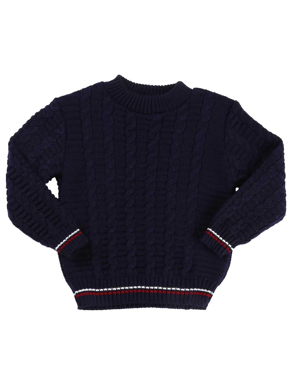 Suéter Infantil Para Bebê Menino - Azul marinho P