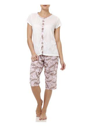 Pijama-Curto-Feminino-Cinza-Rosa