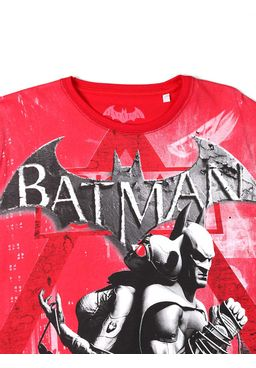 Camiseta-Manga-Curta-Juvenil-Masculina-Batman-Vermelha