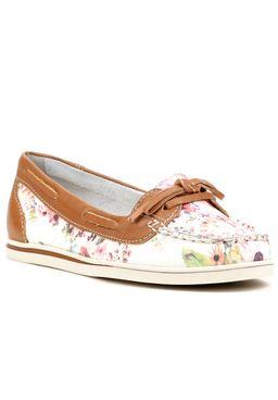 Sapato-Mocassim-Feminino-Bottero-Floral-Marrom-Rosa