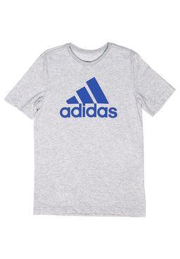 Camiseta-Manga-Curta-Juvenil-para-Menino-Adidas-YB-ESS-Cinza