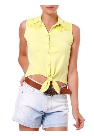Camisa-Regata-Feminina-Amarela