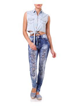 Camisa-Regata-Jeans-Feminina-Azul