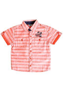 Camisa-Manga-Curta-Infantil-para-Menino-Laranja