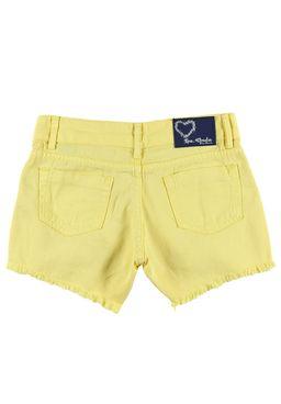 Short-Saia-Juvenil-para-Menina-Amarelo